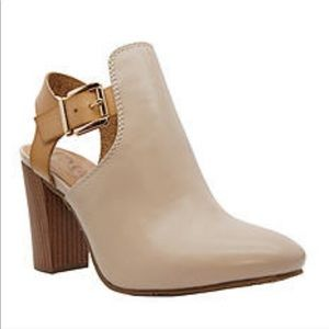 Groove Susan strappy heeled mule booties boots